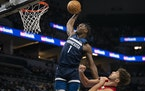 Why did Timberwolves forward Anthony Edwards work so hard on his shooting in the offseason? To create more room for him to swoop down the lane and dun