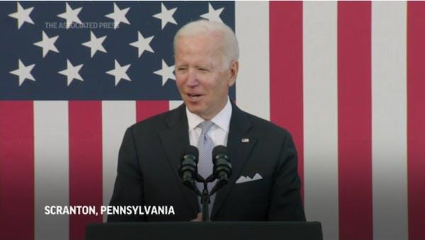 Home in Scranton, Biden plugs $2T plan to revive U.S.