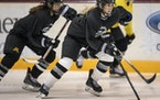 The Minnesota Whitecaps, shown during a practice last season, are one of six teams in the women's Premier Hockey Federation.