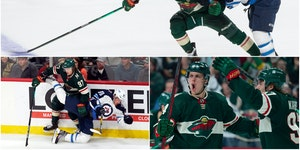 Roughing it: Kaprizov becoming a target, and gives as good as he gets