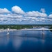 The St. Croix River bridge connecting Minnesota and Wisconsin, photographed just prior to its completion in 2017.