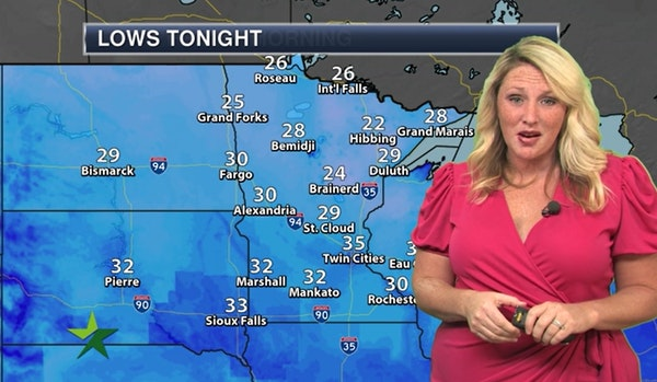 Evening forecast: Temps dropping into 30s with a frost warning