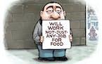 Sack cartoon: The labor market