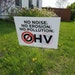OHV stands for Off-Highway Vehicle and these lawn signs in Houston, Minn., express local opposition to a high-density, motorized vehicle trail project