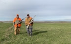 Tom Franchino, left, moved to a small North Dakota town (population about 250) 19 years ago for the hunting and fishing. Two years ago his buddy, Jeff