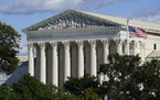 The Supreme Court is seen in Washington, Monday, Oct. 18, 2021.