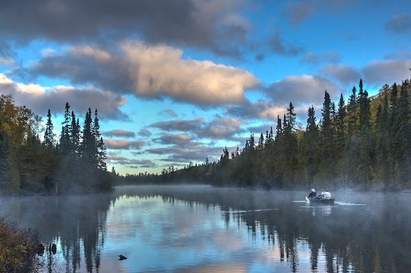 The Boundary Waters Canoe Area Wilderness in northern Minnesota.