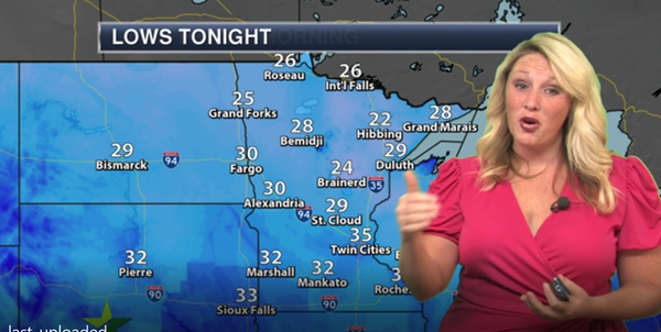 Evening forecast: Partly cloudy, then areas of frost
