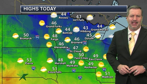 Morning forecast: Partly sunny, high of 50