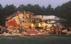 Five people were injured early Saturday after their house exploded in Cambridge, Minn.