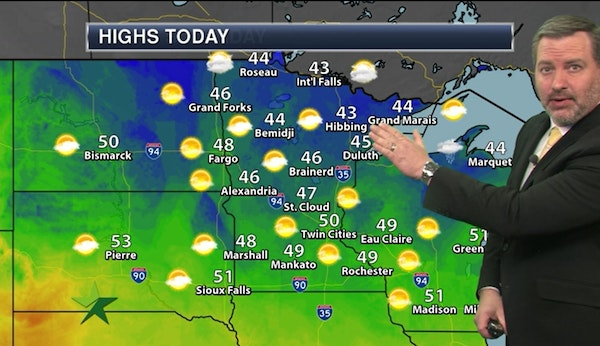 Evening forecast: Becoming cloudy, low in mid-30s