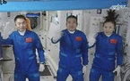 Three Chinese astronauts, including Wang Yaping, kicked off a record-setting six-month stay at China's space station on Oct. 16.