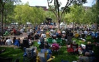 A crowd filled Mears Park for the Lowertown Blues Fest in 2015. Residents are exploring forming their own Residential Improvement District to boost af