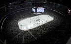 Seen from high above, the Wild and Jets played at Xcel Energy Center last week.