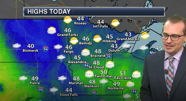 Evening forecast: Dropping into 30s overnight