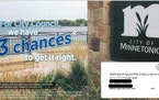 A slate of six Minnetonka City Council candidates used this campaign material with a photo of the city's logo. A resident filed a complaint with the