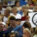 """A fan held up a """"No Strike"""" sign at the Metrodome before a Twins-Mariners game in 2002. Baseball's ninth work stoppage and first in 26 years app"""