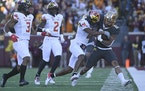 Freshman running back Ky Thomas led the Gophers in rushing with 139 yards in 21 carries in a 34-16 victory over Maryland on Saturday.