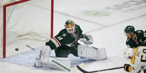 Predators defenseman Roman Josi scored on Wild goaltender Kaapo Kahkonen in the first period Sunday.