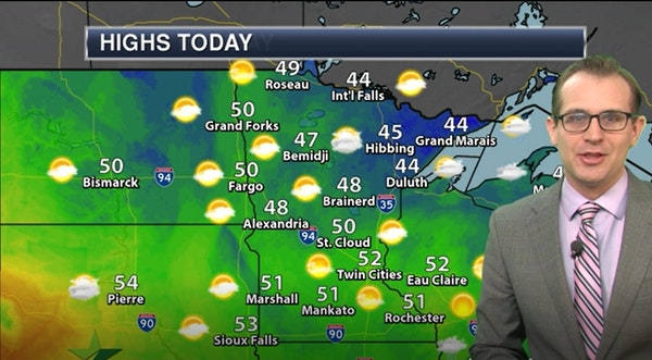 Morning forecast: Sunny with a high of 53