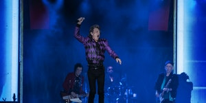 Mick Jagger showed little sign of slowing down during Sunday's Rolling Stones concert at U.S. Bank Stadium.