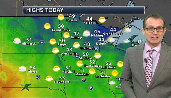 Afternoon forecast: Plenty of sun with high in low 50s