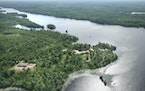 An aerial view of River Point Resort on Birch Lake, not far from where the Twin Metals underground mine would be built.