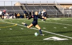 St. Francis girls' soccer player Mattisyn Mensink went on the attack against Zimmerman in the Class 2A, Section 6 final on Thursday.