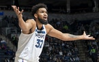 Timberwolves center Karl-Anthony Towns disagreed with a call on Monday night at Target Center.