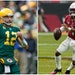Kyler Murray (right) of the Cardinals and Aaron Rodgers (left) of the Packers lead the top two teams in Mark Craig's power rankings.