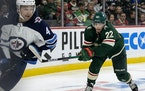 Kevin Fiala (22) of the Minnesota Wild  ] CARLOS GONZALEZ • cgonzalez@startribune.com – St. Paul, Minn., October 19, 2021, NHL, Minnesota Wild vs