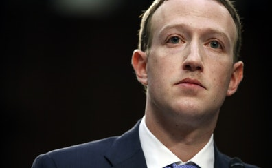 In this 2018 photo, Facebook CEO Mark Zuckerberg testifies before a joint hearing of the Commerce and Judiciary Committees on Capitol Hill in Washingt