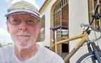 The Rev. Dennis Dempsey, in front of his home while he was doing mission work in Venezuela.