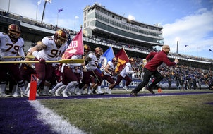 Football coach P.J. Fleck led the Gophers onto Ryan Field to face Northwestern in 2019. Despite the Wildcats averaging just over 29,000 per game at ho