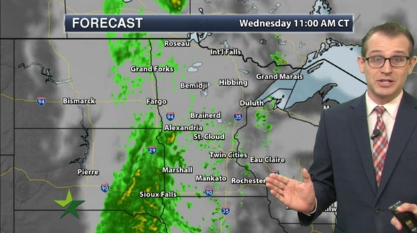 Morning forecast: Showers, high 56; more rain tonight