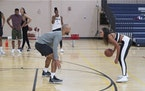 """Minnesota basketball stars Michelle Young and Joe Coleman get close playing one-on-one on """"The Bachelorette."""""""