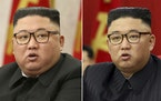 FILE - This combination of file photos provided by the North Korean government, shows North Korean leader Kim Jong Un at Workers' Party meetings in
