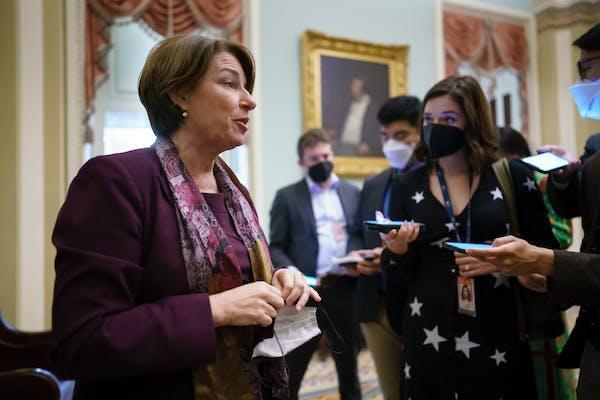 U.S. Sen. Amy Klobuchar, D-Minn., in Washington on Oct. 6.
